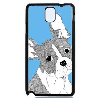 Bulldog Dog Pattern Phone Case for Samsung Galaxy Note 3 (Blue)