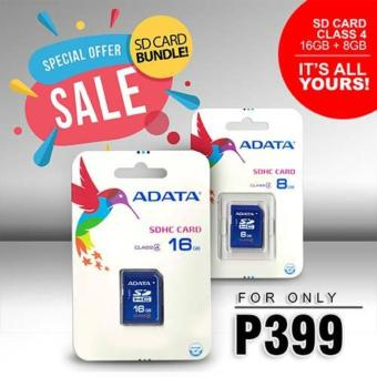 Bundle Sale - Adata SDHC Class 4 Memory Card 16GB, 8GB