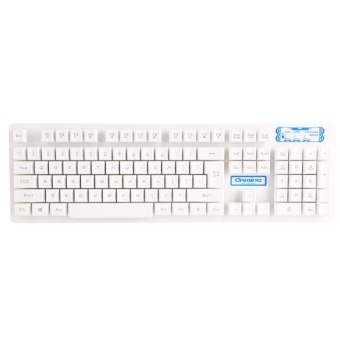 [Buy 1 Get 1 Free Gift] 104 Key USB Wireless Gaming Keyboard and Mouse Combo Adjustable DPI (White) - intl - 3