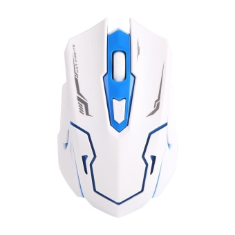[Buy 1 Get 1 Free Gift] 104 Key USB Wireless Gaming Keyboard and Mouse Combo Adjustable DPI (White) - intl - 5