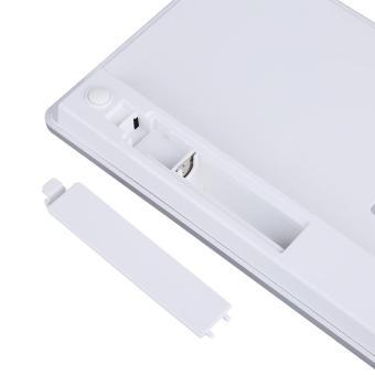[Buy 1 Get 1 Free Gift] (Ready Stock)Bluetooth Wireless Keyboard Ultra-Slim Silver - intl - 4