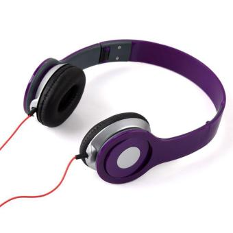 BUYINCOINS Over-The-Ear Headphones for Smartphone/PC Purple