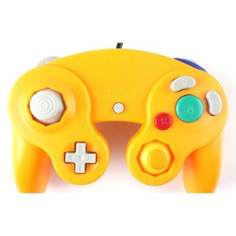 BUYINCOINS Wired Shock Joypad Game Stick for Nintendo Wii (Yellow)