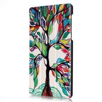 BYT Colorful Printing Tablet Leather 3 Folio Flip Cover Case forLenovo Tab3 7 Essential TB3-710F/IF - intl - 4