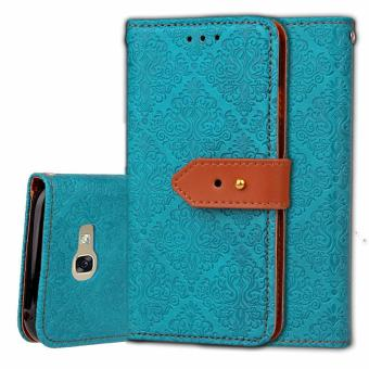 BYT Euro Mural Leather Flip Cover Case for Samsung Galaxy A7 (2017) A720 - intl