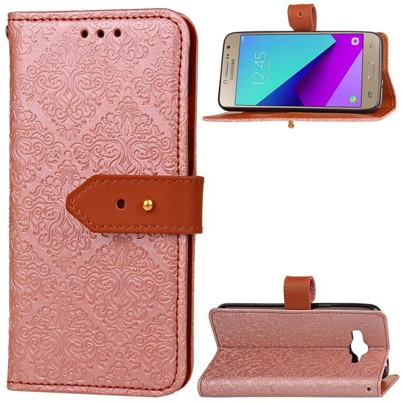 BYT Euro Mural Leather Flip Cover Case for Samsung Galaxy J2 Prime- intl .