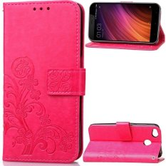BYT Flower Debossed Leather Flip Cover Case for Xiaomi Redmi 4X -Int'l