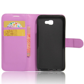 BYT Leather Flip Cover Case for Samsung Galaxy J5 Prime (Purple) - 2 .