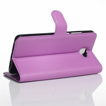 BYT Leather Flip Cover Case for Samsung Galaxy J7 Prime (Purple) - 3