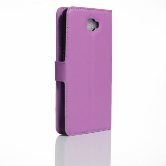 BYT Leather Flip Cover Case for Samsung Galaxy J7 Prime (Purple) - 2