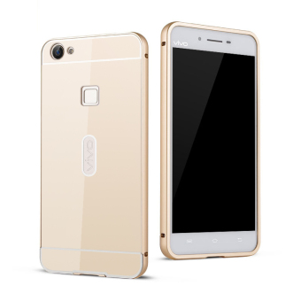 BYT Metal Bumper+PC Back Cover Case for Vivo V3 Max (Gold)