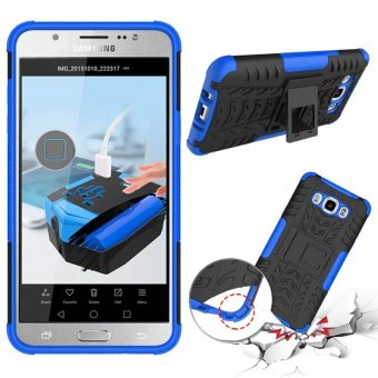 BYT Rugged Dazzle Case for Samsung Galaxy J7 2016 with Kickstand(Blue)