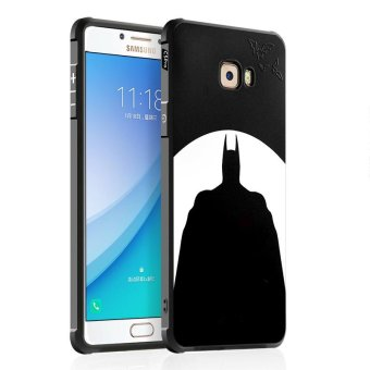 BYT Silicon Debossed Printing Cover Case for Samsung Galaxy C7 Pro- intl