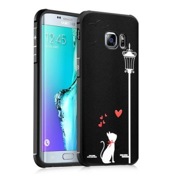 BYT Silicon Debossed Printing Cover Case for Samsung Galaxy S6 Edge- intl