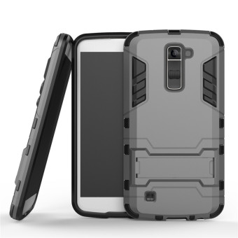 BYT TPU+PC Hybrid Phone Case for LG K10 (Grey)