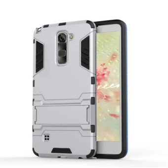 BYT TPU+PC Hybrid Phone Case for LG Stylus 2 / LS775 (Silver) - 2