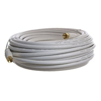 Cable N Wirelessf 50 Feet Low Loss RG6 Coaxial Digital Audio VideoPatch Cable White, F Pin to F Pin Coax Extension UL (US Seller)