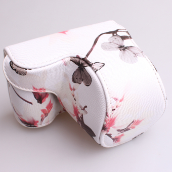 Camera Case Bag Cover with Strap for Sony A5100/A5000/NEX-3N(White) - 3