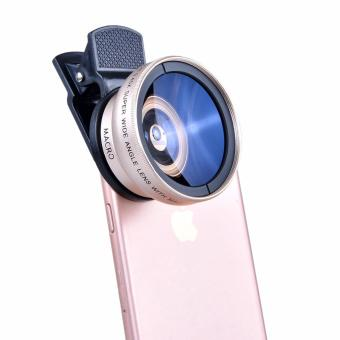 Camera Lens 37MM 0.45x Super Wide Angle Lens + 12.5x Super MacroLens for Smartphone(Gold) - intl