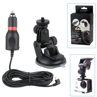 Cameras Other Action Camera Accessories Car Charger Mount + SuctionCup Bracket Car Holder For Sjcam Sj4000 M10 Sj5000X Sj6000 Sj7000Sj8000 Sj9000N Eken Soocoo C30 Gitup 2 Action Camera - intl