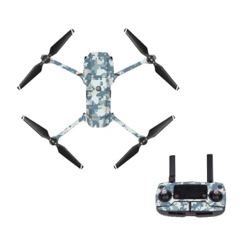 camouflage waterproof PVC Decal Skin Sticker For DJI MAVIC ProDrone body protection film +remote Controllers Protective Cover -intl Price Philippines