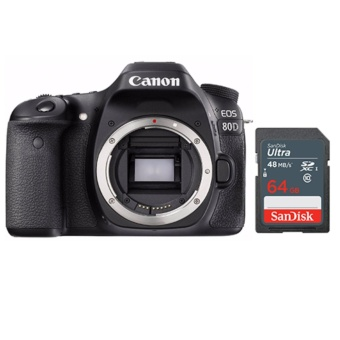 Canon EOS 80D Body Only -Sandisk 64GB Ultra SD Bundle - intl