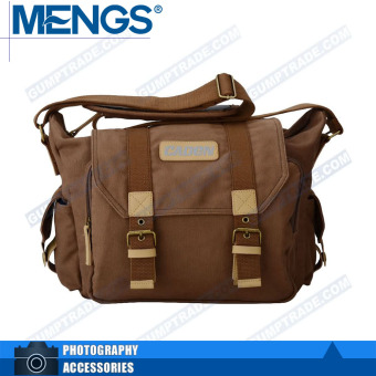 Canon F1 brown color lens device body canvas shoulder bag