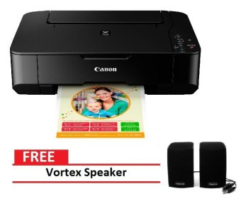 Canon Pixma MP237 All-in-One Inkjet Printer(Black) with Free VortexSpeaker