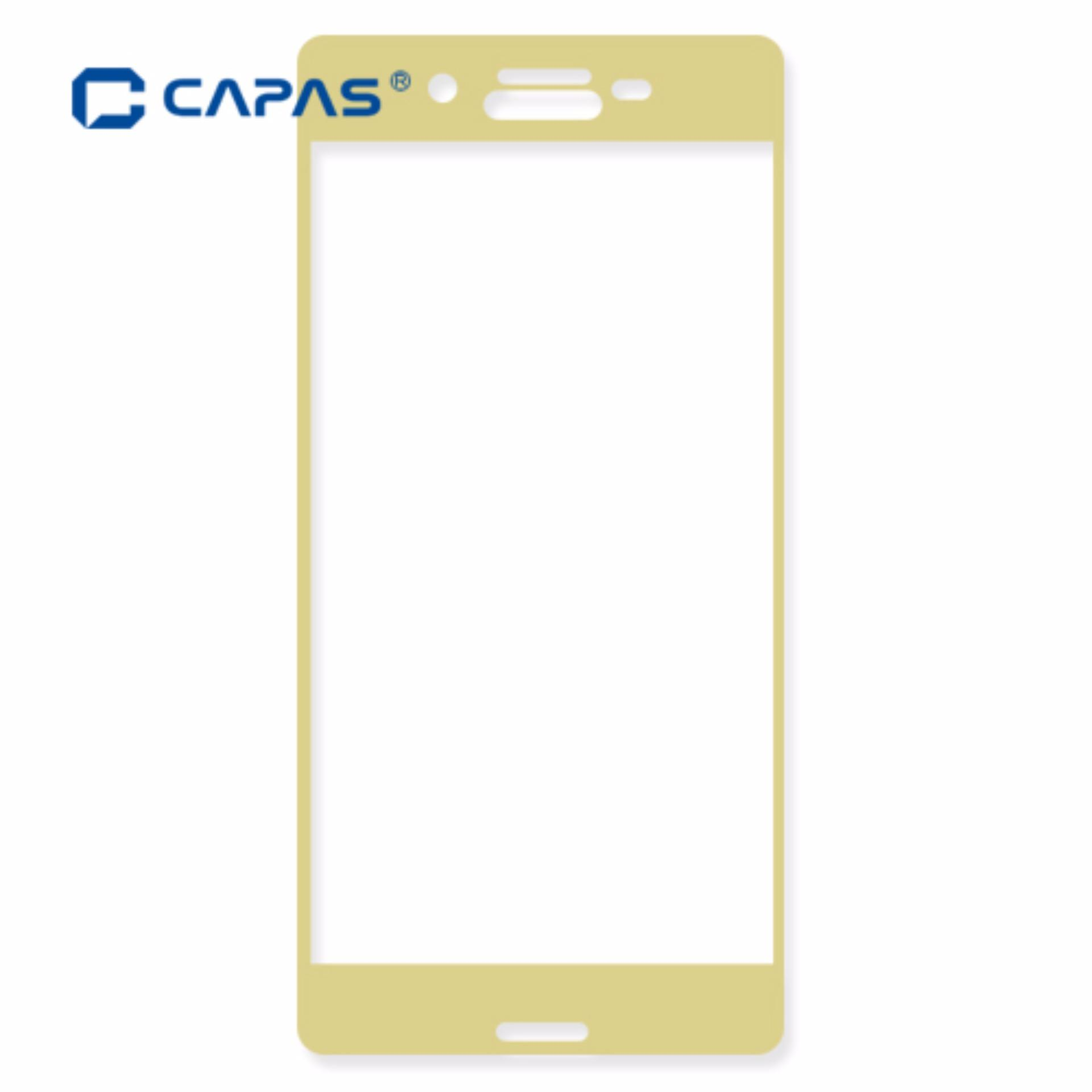 CAPAS 3D Curved Full Cover HD Clear Tempered Glass for Sony Xperia X F5121 Screen Protector