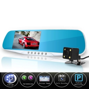 car camera dual lens rearview mirror auto dvrs cars dvr recorder video registrator Full HD 1080p dash cam camcorder night vision - intl