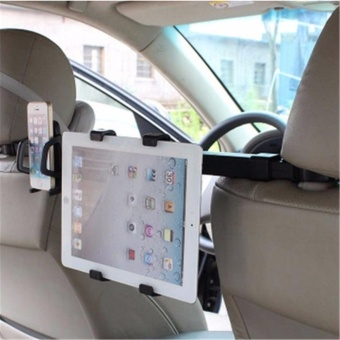 Car Chair Back Phone iPad Tablet Stand Two-in-one Bracket Holder -intl - 2