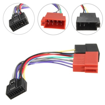 Car Stereo Radio ISO Wiring Harness Connector Cable Wire Loom 16 Pin For KENWOOD - intl