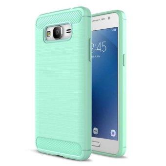 Carbon design soft Case for Samsung Galaxy J2 Prime - Dark Blue