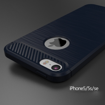 Carbon fiber phone case for iPhone 5 5S se cover TPU Cases