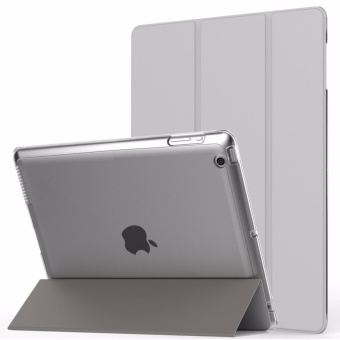 Case Apple iPad 2/3/4 - for iPad 2 / New iPad 3 (3rd Generation) / iPad 4, Protective Cover Cover Ultra Lightweight Smart-Shell Stand Cover With Translucent (With auto Wake / Sleep)-(Silver) - intl