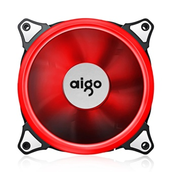 Case Fan, Aigo LED 120mm High Airflow Quiet Edition AdjustableColor LED Fan CPU Coolers & Radiators for Computer Cases (RED)- intl