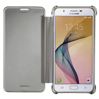 Case for Samsung Galaxy J7 Prime Luxury Mirror Clear View Flip FullBody Cover (Silver) - intl - 4