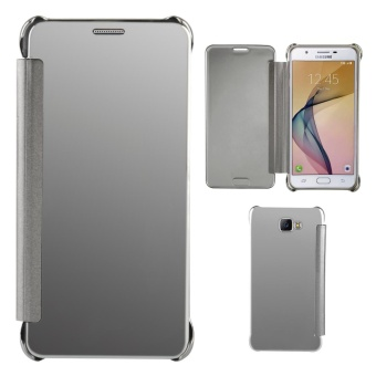 Case for Samsung Galaxy J7 Prime Luxury Mirror Clear View Flip FullBody Cover (Silver) - intl Price in Philippines