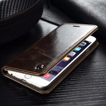 Caseme Luxurious Leather Flip Cover Case for Iphone 6plus and 6s plus - 2