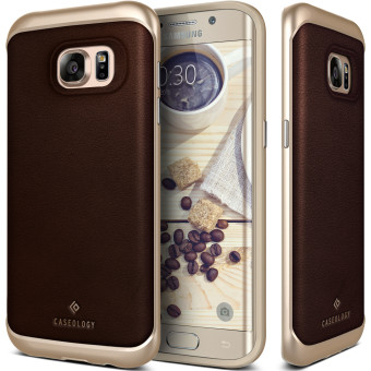 Caseology Envoy Series TPU Case for Samsung Galaxy S7 (Leather Brown)