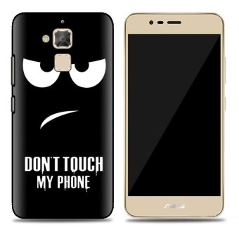 Cases for Asus Zenfone 3 Max ZC520TL (5.2 inch) Smartphone - Don'tTouch My Phone Printing Pattern Transparent TPU Soft Cover Case -intl
