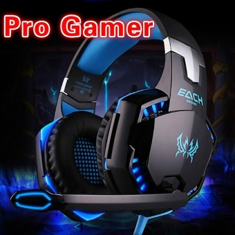 Casque Stereo Hifi Audio Gaming Headset Luminous Gamer Headphone High Quality Big Earphone For Computer PC Laptop With Microphone Mic Head Phone - intl
