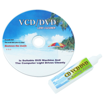 CD DVD VCD Player Lens Cleaner Dirt Dust Remover Restore withCleaning Fluid - Intl - 2