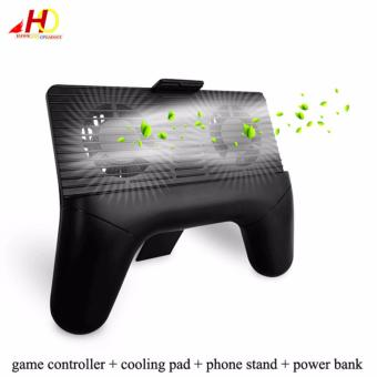 Cell Phone Cooler Cooling Fan Radiator Handle Gamepad Clamp ClipMount Holder (Black)