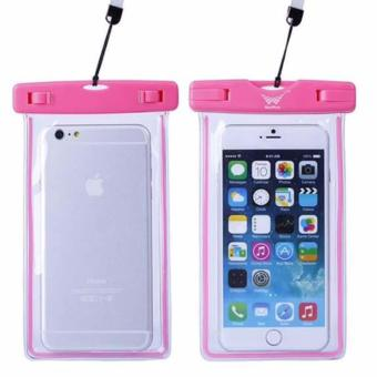 Cellphone case Waterproof with Glow in the Dark feature Pink color