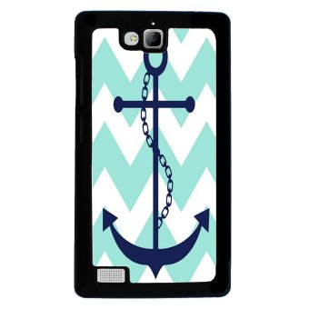 Chevron Anchor Boat Pattern Phone Case for Huawei Honor 3C (Blue)