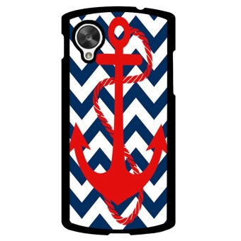 Chevron Anchor Boat Pattern Phone Case for LG Nexus 5 (Blue)
