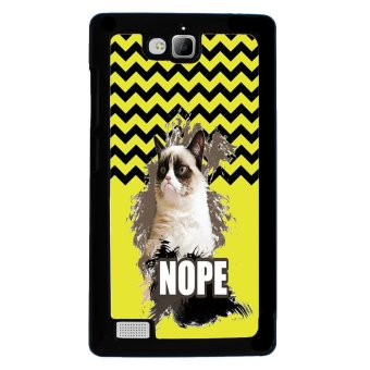 Chevron Grumpy Cat Pattern Phone Case for Huawei Honor 3C (Black)