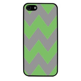Chevron Pattern Phone Case for iPhone 4/4S (Black)