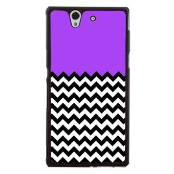 Chevron Pattern Phone Case for Sony Xperia Z L36H (Black)